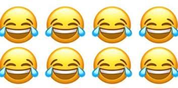 l emoji l emoji qui pleure de rire est celui que l on utilise le plus