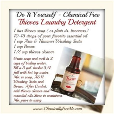 Thieves Cleansing Bar Soap diy chemically free thieves laundry detergent