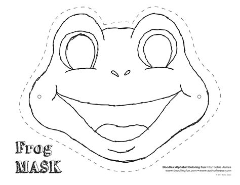 frog cut out template frog mask colouring pages diy