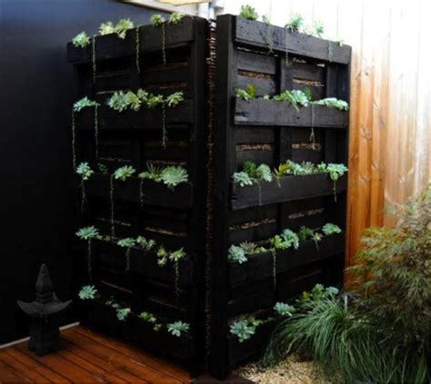 Vertical Garden Made From Pallets From Shelving To Headboards Reusing Pallets