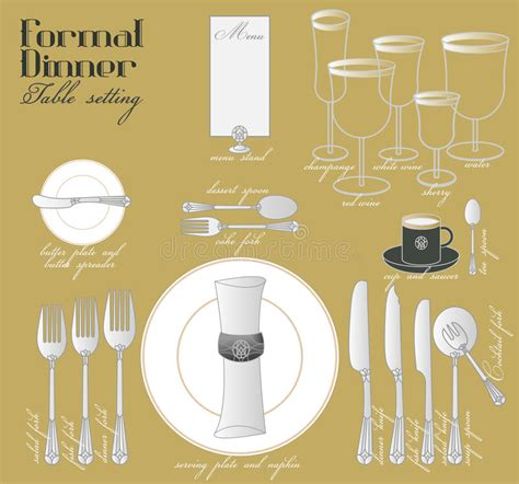 how to set a formal dinner table thank you for inviting us formal dinner table setting stock image image of course