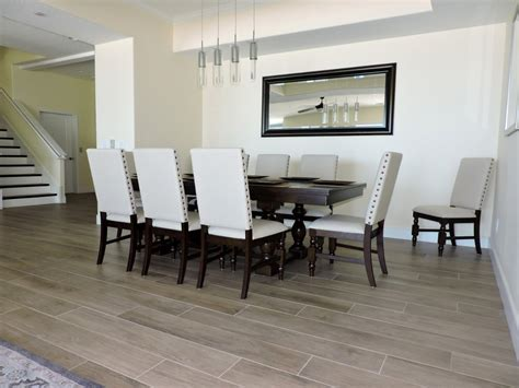 dining room flooring gulf tile cabinetry designs newly built beach front rentals