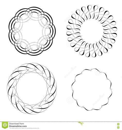 vector decorative design elements page decor calligraphic decorative design elements set cartoon vector