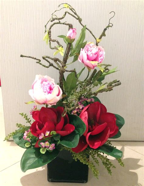modern new year flower arrangement artificial flower arrangement blossoms cellar florist