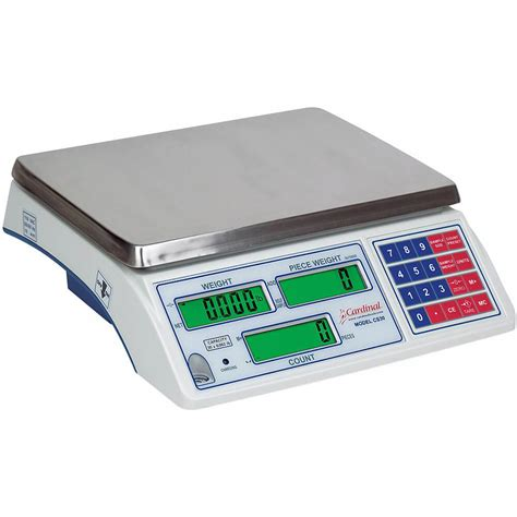 digital counting scale 46458206 cardinal digital counting scale w rechargeable battery 30 lb c30