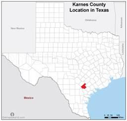 karnes county location map emapsworld
