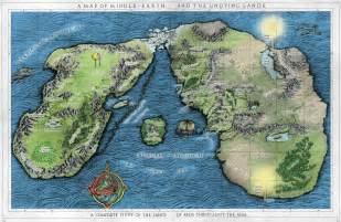 tolkien map middle earth some more horrible maps of arda tolkienfans