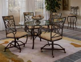 Kitchen Table Sets With Caster Chairs Kitchen Chairs Caster Kitchen Chairs