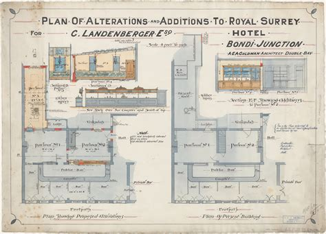 floor plan of proposed new banking quarters for the royal bank of canada vancouver b c plans of licensed premises hotel plans metropolitan