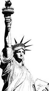 statue of liberty drawing template clipart statue of liberty black