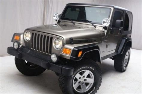 2004 Jeep Rubicon Mpg Sell Used 2004 Jeep Wrangler Rubicon 4wd Top And Soft