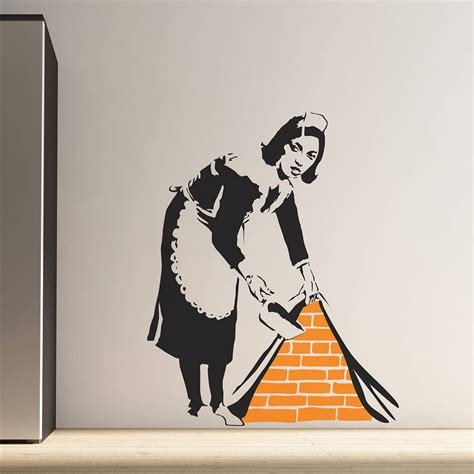 banksy wall stickers banksy wall stickers by the binary box notonthehighstreet