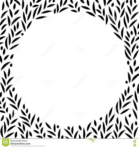 imagenes de hojas a blanco y negro fondo blanco y negro del marco del c 237 rculo de las hojas