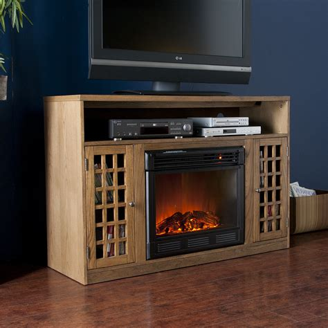 oak electric fireplace tv stand fairfax media weathered oak electric fireplace media 50