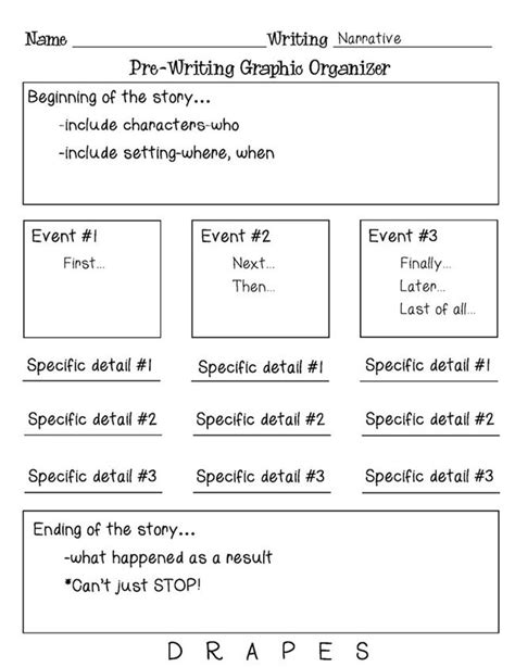 Persuasive Essay Prewriting Worksheet by Pre Writing Graphic Organizer Persuasive Narrative