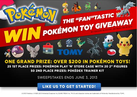 Toy Sweepstakes 2016 - tomy spring 2013 pok 233 mon toy sweepstakes generations of savingss