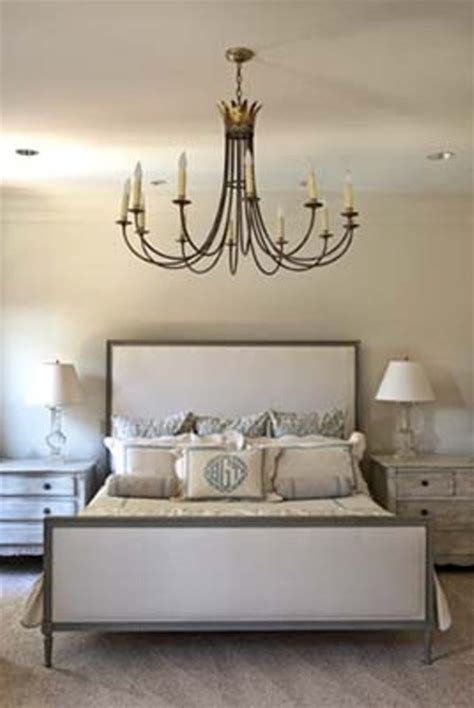 chandeliers in the bedroom