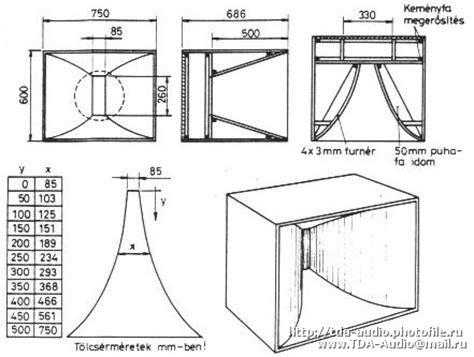 Horn Speaker Narae 12 Watt plans pro audio speaker cabinet design
