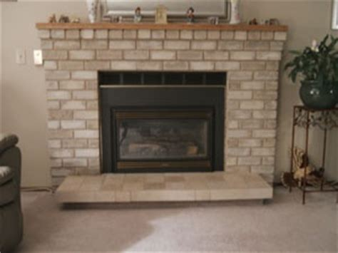 refinish the brick fireplace home