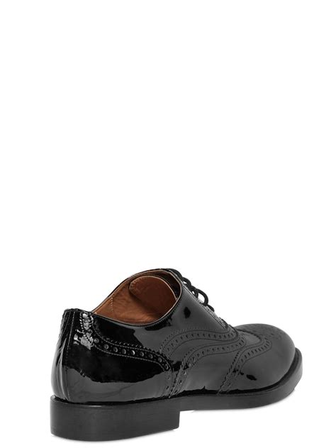 patent oxford shoes fratelli rossetti 20mm brogue patent leather oxford shoes