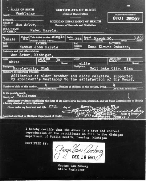 Hawaii Birth Certificate Records Http Www Bel Napfamily Org Nathanharrisfamily Nathan