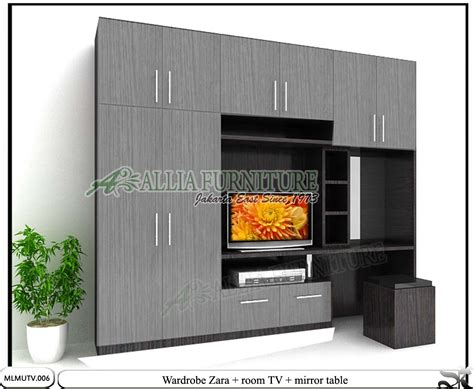 Lemari Kaca Tv lemari minimalis tv unit kaca rias zara allia furniture
