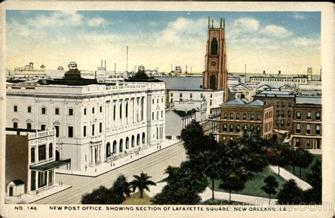 new post office showing section of lafayette square new
