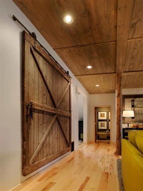 barn door inside house photos hgtv