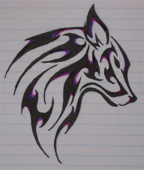 tribal wolf head tattoo designs 60 tribal wolf tattoos designs and ideas