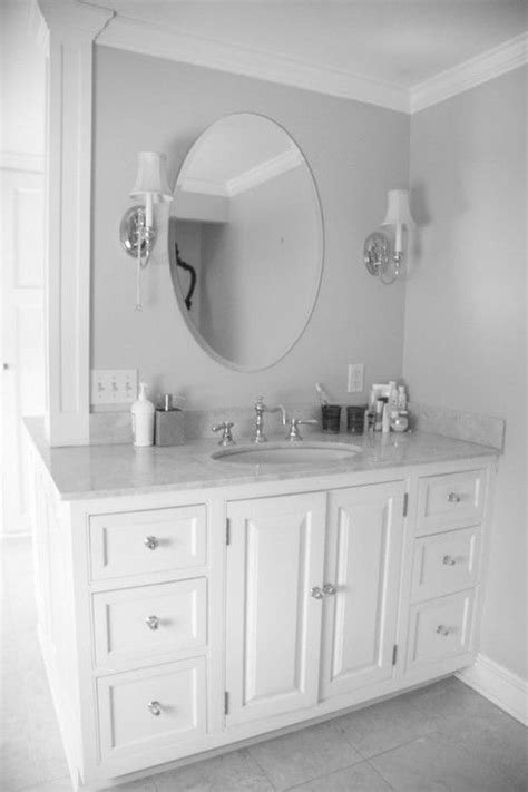 Oval Mirrors For Bathroom Vanities Best 25 Oval Bathroom Mirror Ideas On Pinterest Half Bath Remodel Small Bathroom Paint