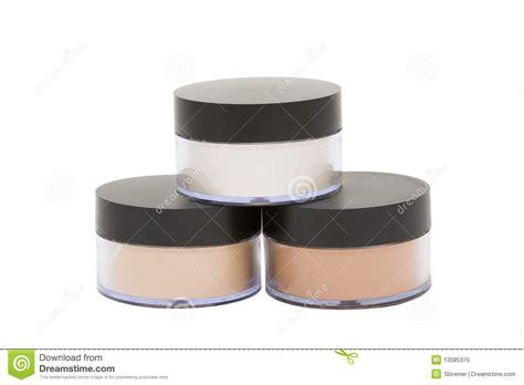 vasi cosmetici vasi cosmetici con polvere isolata nel bianco immagine
