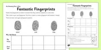 fantastic fingerprints activity sheet finger prints arch
