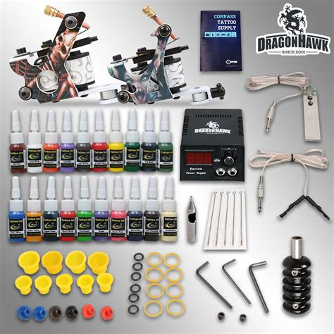 tattoo gun starter kit wholesale beginner starter kits 2 guns machines 20