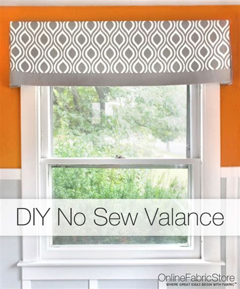 How To Sew Kitchen Curtains How To Make A No Sew Valance Recipe Room Kitchen Sew And Sewing