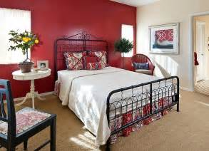 cottage style bedroom with gorgeous red backdrop from design decorating photos inspiration for beautiful home decor