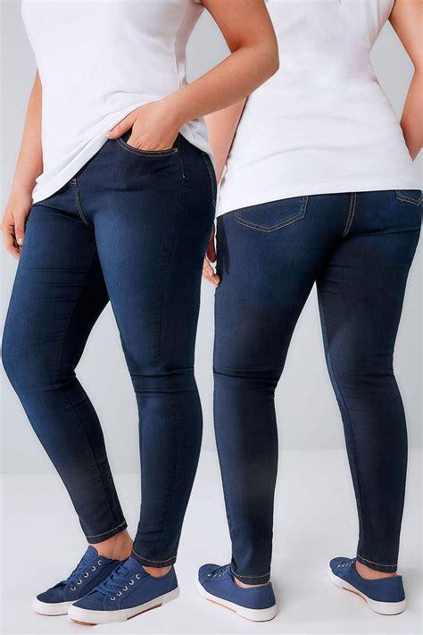 Leg 200 Medium Size Ekman Grab Sler Bottom Grab Sler indigo blue stretch plus size 16 to 28