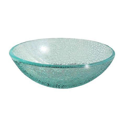 Cracked Glass Vessel Sink magick woods 16 1 2 quot cracked glass vessel sink at menards 174