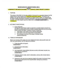 Sle Memo Description Memorandum Of Understanding Template Best Resumes
