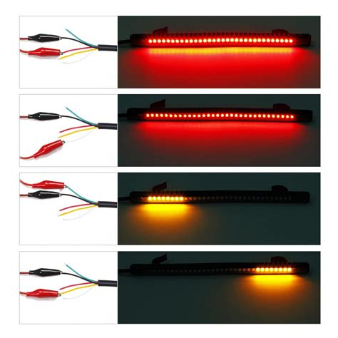 led brake light strips motorcycle integrated 32led 8 quot brake stop turn signal
