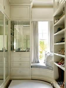 corner window seat transitional closet atlanta homes