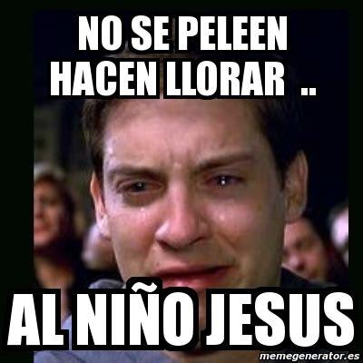 Memes Se - meme crying peter parker no se peleen hacen llorar al