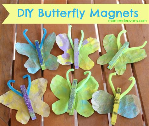 diy kid crafts craft diy butterfly magnets