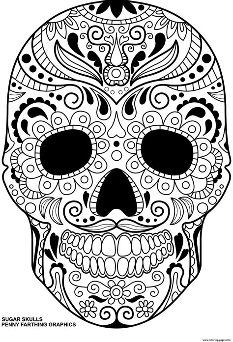coloring pages of skulls for day of the dead sugar skulls day of the dead calavera coloring pages printable