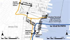city of hoboken nj 187 nj transit to cross honor path