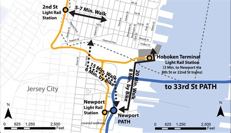 jersey city light rail schedule city of hoboken nj 187 nj transit to cross honor path