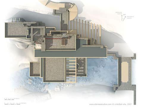 casa sulla cascata pianta fallingwater casa sulla cascata pianta terzo livello