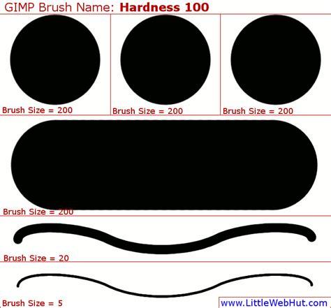 gimp tutorial little web hut gimp 2 8 hardness 100 brush