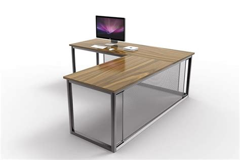 Industrial Corner Desk Otis Industrial Corner Desk Oak And Steel Ltd