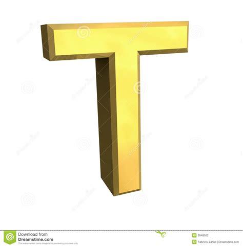 le lettere d pi禮 lettre t de l or 3d photographie stock image 3848552