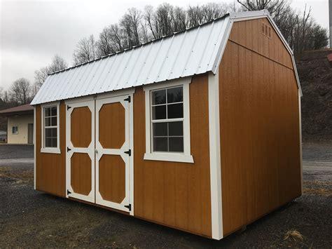lofted barn honey gold    hickory sheds